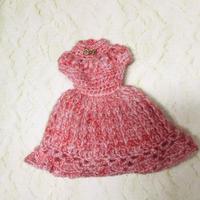 ピンク色のニットワンピース(27cmドール サイズOF)
