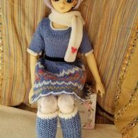 【花布糸様製作】ニット編みアウトフィット4点セット※SDサイズ