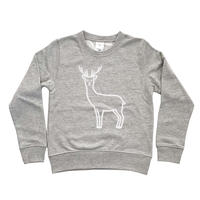 SAFE DEER (sweat/gray/KIDS)