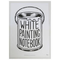 WHITE PAINTING NOTEBOOK(poster)