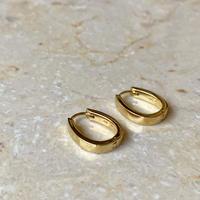 Horseshoe pierce gold