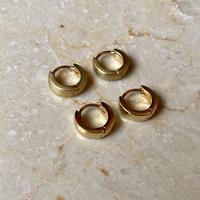 Mini hoop pierce gold