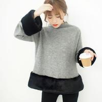 ポイントファーボトルネックニット【11月中旬~下旬発送】