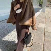 【即納】silk lady knit dress