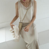 【即納】summer knit linen tops