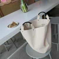 【即納】 cotton linen canvas tote