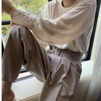 【即納】(blackのみ) cuff Button blouse