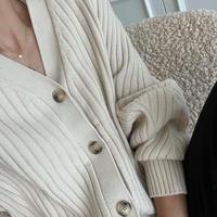 wool wide lib cardigan