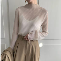 sheer petit high necked tops