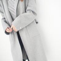 ハンドメイドウールコート【12月中旬発送】