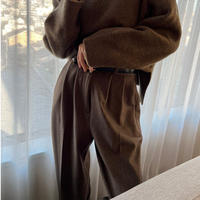 Herringbone high waist tuck PT