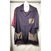 s/s open-necked Shirt - multi