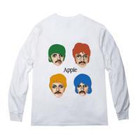 "Apple"" l/s tee #white"