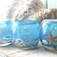 Okinawa sea shell candle holder