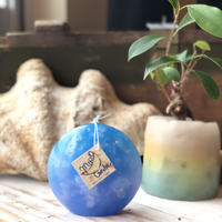 Full moon candle Blue