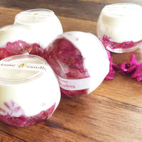 Bougainvillea soy glass candle