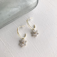 ピアス|crystal flower