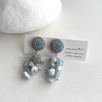 花とビーズ <baby blue>  02