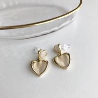 ピアス|petit double heart
