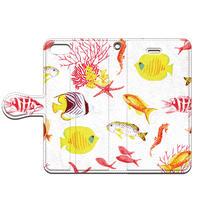 No.INFINITE tropical fishs by maw 手帳型スマホケース 対応機種(iPhone/アンドロイド機種)