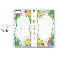 PED(ペッド) Happy Flower 手帳型スマホケース 対応機種(iPhone/アンドロイド機種)