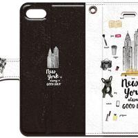No.INFINITE New York(ブラック) by maw 手帳型スマホケース 対応機種(iPhone/アンドロイド機種)