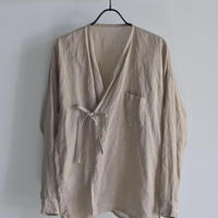 【 ゴーシュ 】Lady's  80/1 リネンカシュクールシャツ