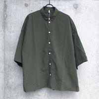 【FIRMUM】ナイロンタッサースモールカラーワイドシャツ