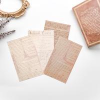 手書き風英字の素材紙 60枚 shakespeare [PM062]