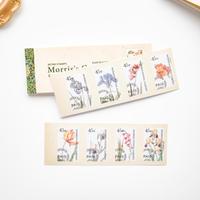 切手シール コラージュ素材 60枚 flower [SE523]