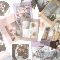 大容量 フレークシールシール flower 45枚 [SE126]