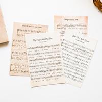 ビンテージ風素材紙 60枚 楽譜 [PM082]