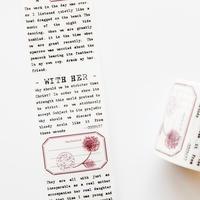 英字とイラストのマスキングテープ flower whisper [CT035]