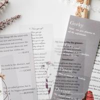 英字と植物の紙&シールset 9枚 grey [PS072]