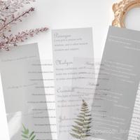 英字と植物の紙&シールset 9枚 green [PS075]