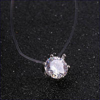 シリコンワイヤーダイヤモンドネックレス U0080