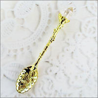 水晶の装飾スプーン(金)U0017