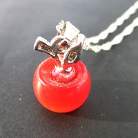 天然石オパールリンゴネックレス(赤)U0063