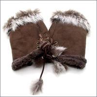 ファー手袋 U0111
