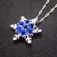 雪の結晶(スノーフレークネックレス)ネックレス U0042