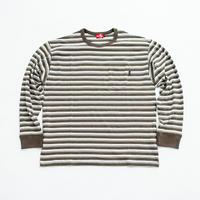 nuttyclothing  / Multi Border Pocket L/S T-Shirt  Olive