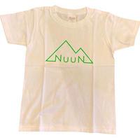 Kids☆NuuN Original T-shirt WHITE-蛍光ミドリロゴ-