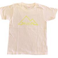 Kids☆NuuN Original T-shirt WHITE-蛍光キイロロゴ-
