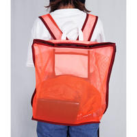 mesh back pack (neon orange)