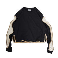 PIPING  SLEEVE  LONG-T ( BLK )