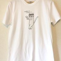 【限定1枚】にゃんとこヘビーウェイトTシャツ/ホワイト/S