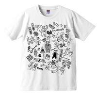にゃんとこ New Vote T-shirts  /白