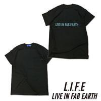 L.I.F.E [ LIVE IN FAB EARTH ](ライフ)PKS Tシャツ ブラック