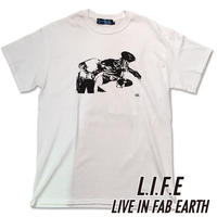 [アウトレット]限られたセレクトショップで展開するL.I.F.E [ LIVE IN FAB EARTH ](ライフ)MO Tシャツ ブラック【スケートボードアパレル】