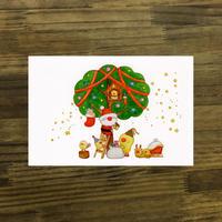 ポストカード ひよこシリーズ 「クリスマス」